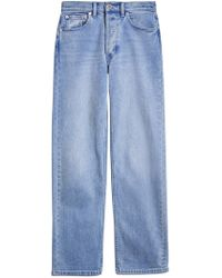 Burberry - Straight Fit Stonewashed Jeans - Lyst