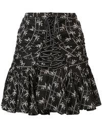 Cinq À Sept - Amelia Ruched Floral Skirt - Lyst