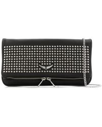 Zadig & Voltaire - Rock Spikes Shoulder Bag - Lyst
