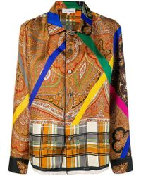 Pierre Louis Mascia - Embroidered Long-sleeve Shirt - Lyst