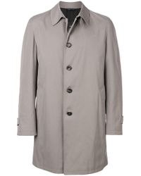 Dell'Oglio - Straight-fit Buttoned Coat - Lyst