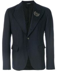 Dolce & Gabbana - Pinstriped Blazer - Lyst