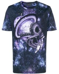 Frankie Morello - Galactic Print T-shirt - Lyst
