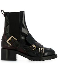 N°21 - Burnout Effect Elasticated Boots - Lyst