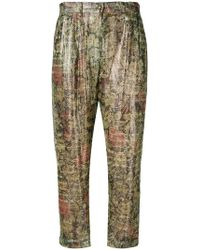 Mes Demoiselles - Floral Print Trousers - Lyst