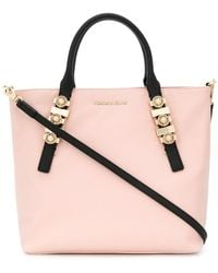 Versace Jeans - Antique-effect Logo Tote - Lyst