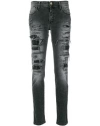 Just Cavalli - Distressed Skinny Jeans - Lyst