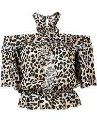 Temperley London - Wild Cat Ruffle Blouse - Lyst