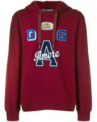 Dolce & Gabbana - Amore Patch Hoodie - Lyst