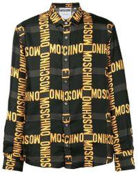 Moschino - Brand Patterned Shirt - Lyst
