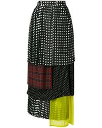 Facetasm - Polka Dot Layered Skirt - Lyst