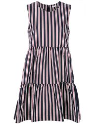 P.A.R.O.S.H. | Striped Flared Dress | Lyst
