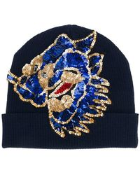 P.A.R.O.S.H. - Sequin Embroidered Beanie - Lyst