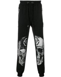 Philipp Plein - Embellished Skull Track Trousers - Lyst