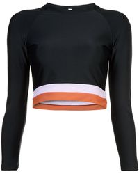 Cynthia Rowley | Shock Wave Electric Stripe Hem Surf/active Top | Lyst