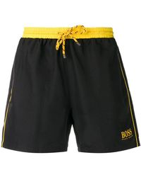 BOSS - Logo Swim Shorts - Lyst