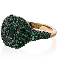 SHAY - 18k Yellow Gold Emerald Ring - Lyst