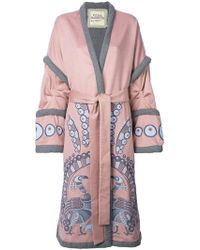 Yuliya Magdych - Peacock Embroidered Wrap Coat - Lyst