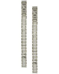 Alberta Ferretti - Crystal Embellished Long Earrings - Lyst