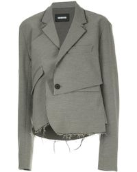 Moohong - Deconstructed Draped Blazer - Lyst