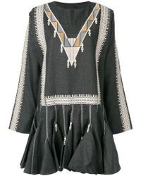 Diesel Black Gold - Embroidered Flared Dress - Lyst