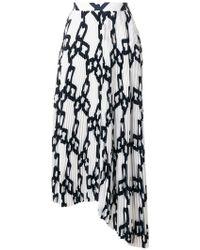 MSGM - Pleated Asymmetric Skirt - Lyst