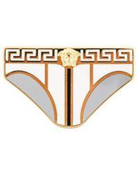 Versace - Enamelled Brief Brooch - Lyst