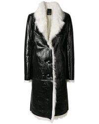 Numerootto - Long Loose Fit Buttoned Coat - Lyst