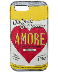 Dolce & Gabbana - Cover iPhone 7 Plus 'Amore' - Lyst