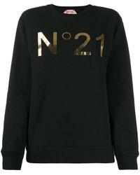 N°21 ロゴ スウェットシャツ - ブラック