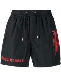 Philipp Plein - Shorts de baño con logo estilo gótico - Lyst
