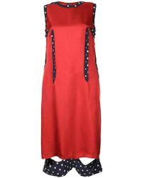 Maison Margiela - Contrast Trim Dress - Lyst