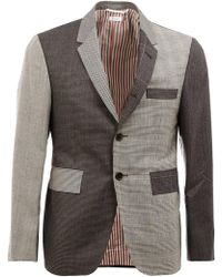 Thom Browne - Notched Lapel Patterned Blazer - Lyst