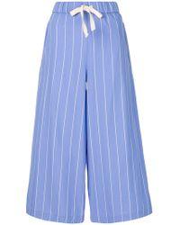 Erika Cavallini Semi Couture | Pinstripe Culottes | Lyst