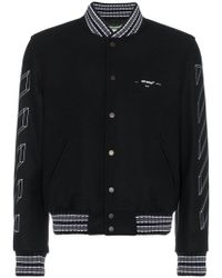 6cb28cd72629 Lyst - Off-White c o Virgil Abloh Diagonal 3d Line Bomber Jacket in ...