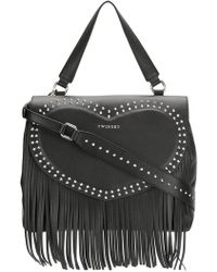 Twin Set | Fringe Detail Studded Shoulder Bag | Lyst