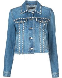Veronica Beard - Embellished Denim Jacket - Lyst