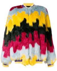 Ultrachic - Faux Fur Bomber Jacket - Lyst