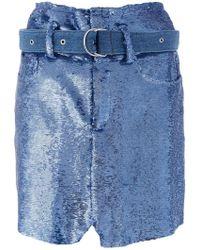 IRO - Natou Sequinned Skirt - Lyst
