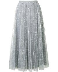 RED Valentino - Polka Dot Tulle Skirt - Lyst