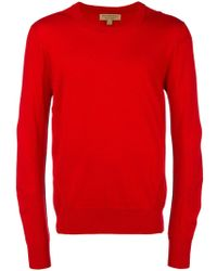 Burberry - Fine Knit Crew Neck Sweater - Lyst