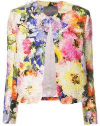 Monique Lhuillier - Embellished Floral Jacket - Lyst
