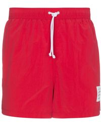 Thom Browne | Men's Red Swimshorts | Lyst