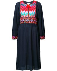 Figue - Violeta Embroidered Peasant Dress - Lyst