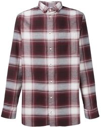Natural Selection Long Pocket Checked Shirt - Red