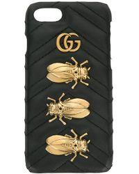 Gucci Funda de iPhone 6/7 Animal Studs - Negro