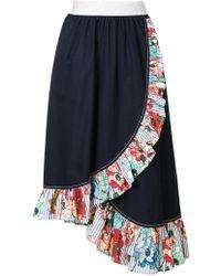 I'm Isola Marras | Ruffled Trim Asymmetric Skirt | Lyst