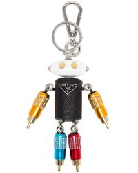 Prada - Robot Bag Charm - Lyst
