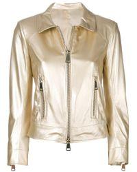 Sylvie Schimmel - Metallic Zip Jacket - Lyst