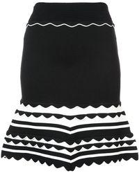 Yigal Azrouël - Gestricktes Kleid mit Streifenmuster - Lyst
